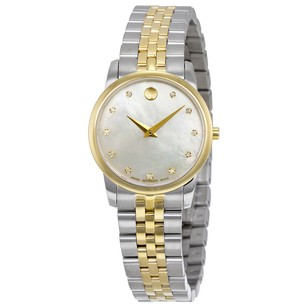Movado Safiro Mother of Pearl Dial Diamond Two-tone Ladies Watch MV0606900