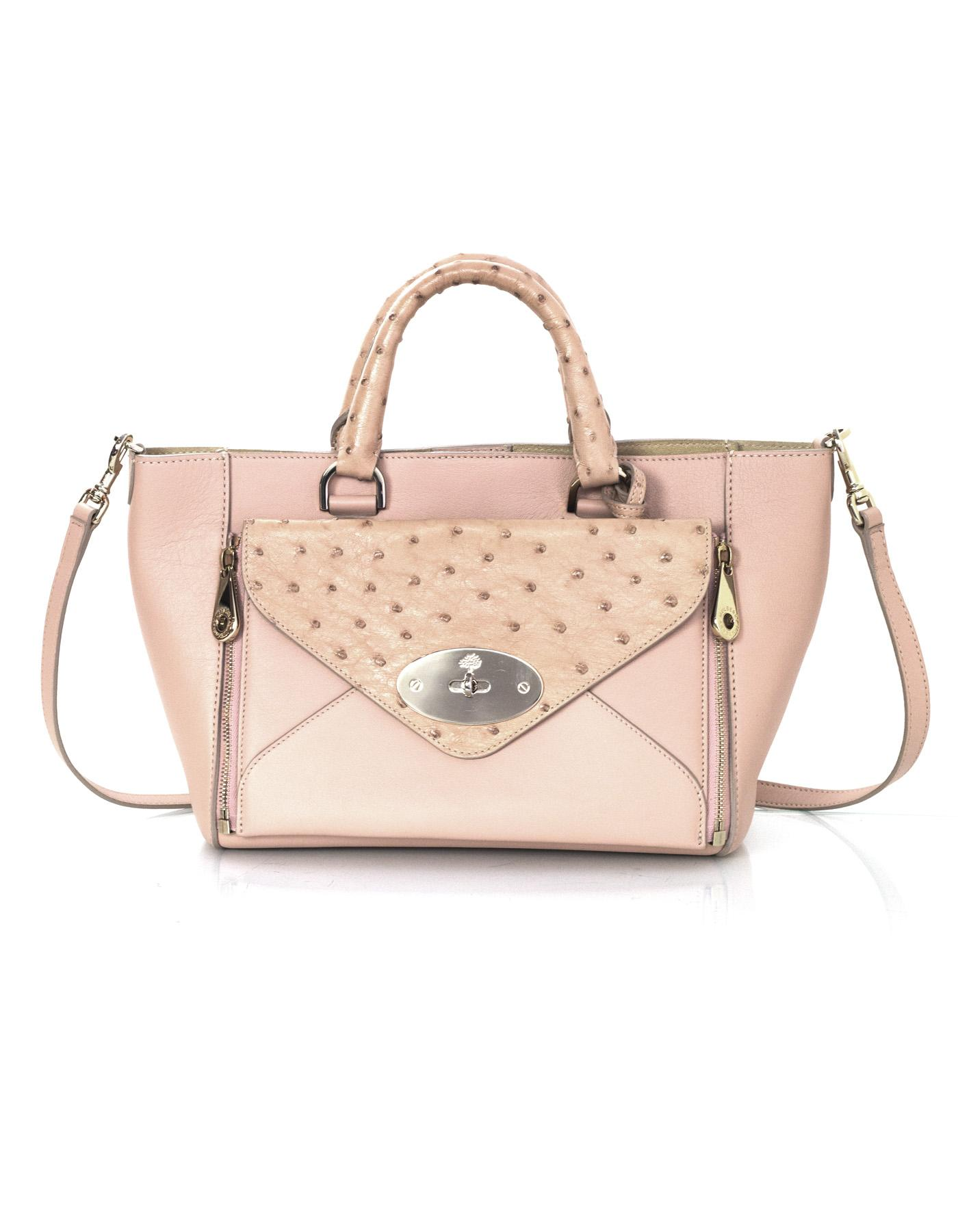 8a63119cc9 ... greece mulberry leather ostrich exotic shoulder tote in pink c3ebc 7af05