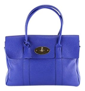 Mulberry Bayswater Classic Grain Leather Tote in blue