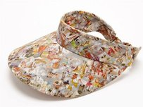 Mulberry Mulberry Ss12 Bonkers Beach Cotton Colorful Print Oversized Summer Visor Hat Cap