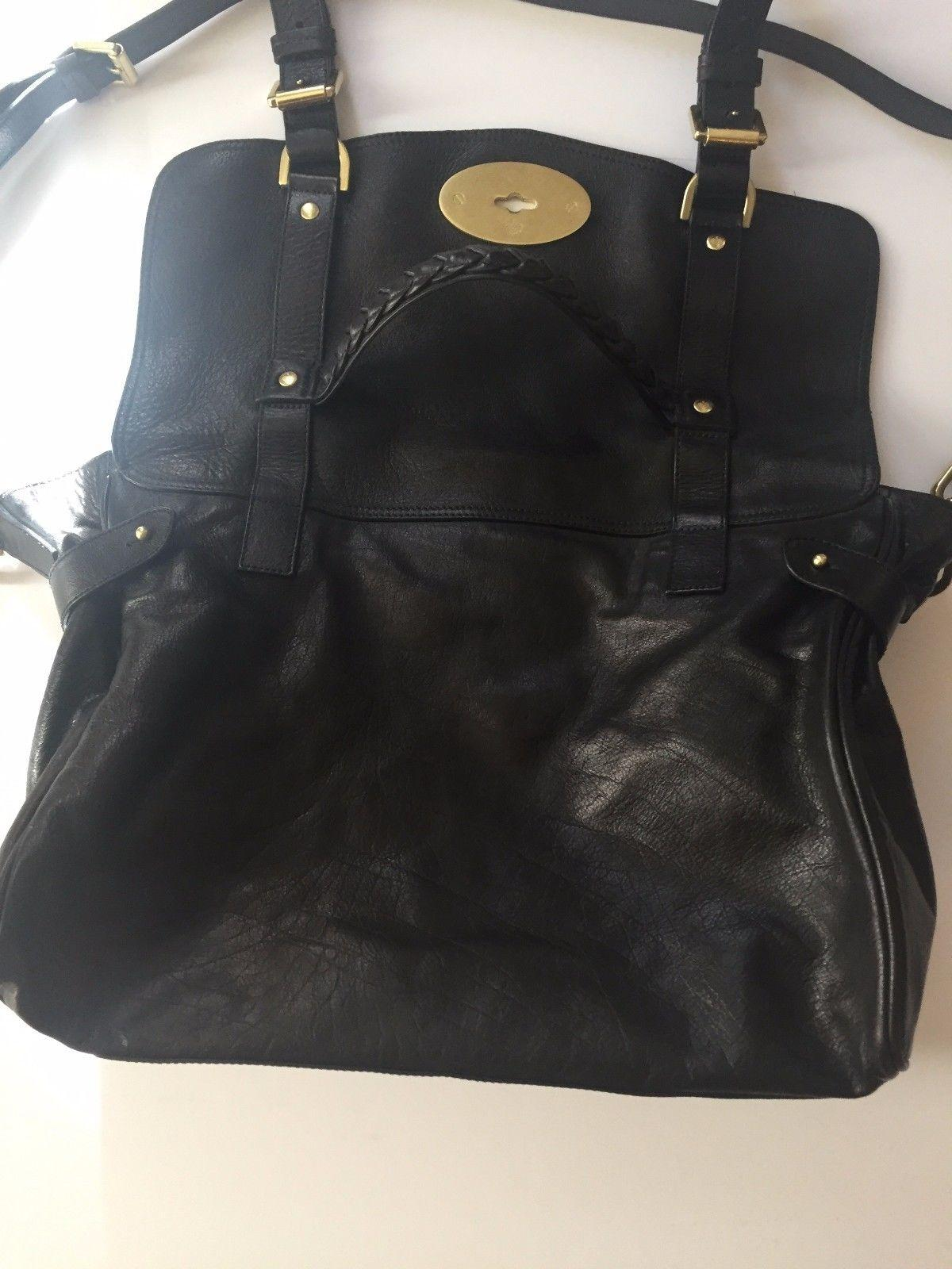low price mulberry oversized alexa black leather satchel 797fc e8b10 9a5687ed2d095