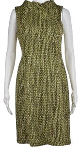 Muse Womens Green Woven Casual Above Knee Sleeveless Sheath Dress
