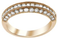 0.84CT DIAMOND 14K ROSE GOLD ANNIVERSARY BAND SIZE 5-8