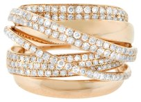 1.44CT DIAMOND 14K ROSE GOLD CROSS OVER RIGHT HAND RING SIZE 5-8