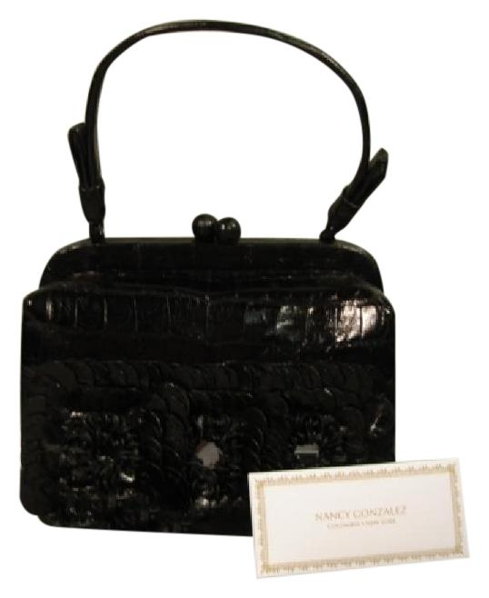 Nancy Gonzalez Black Crocodile Top Handle Bag AGL2wyYNO