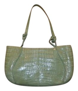 Nancy Gonzalez Light Crocodile Strap Handbag Shoulder Bag