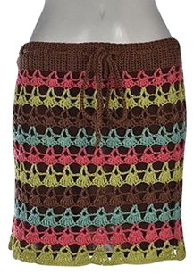 Nanette Lepore Womens Knit A Line Above Knee Casual Skirt Brown