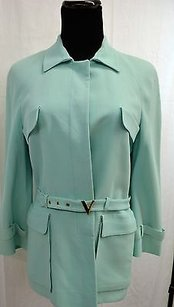 Nanette Lepore Vintage Valentino Mint Green Embroidered Jacket