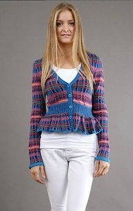 Nanette Lepore Multi Color V Sweater
