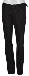 Nanette Lepore Womens Black Casual Speckled Wool Trousers Pants