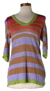 Nanette Lepore Linen Striped Sweater