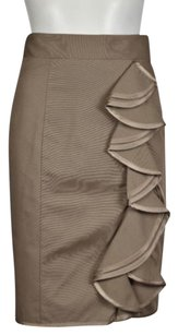 Nanette Lepore Womens Skirt Taupe Gray