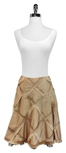 Nanette Lepore Silk Skirt Gold/Brown