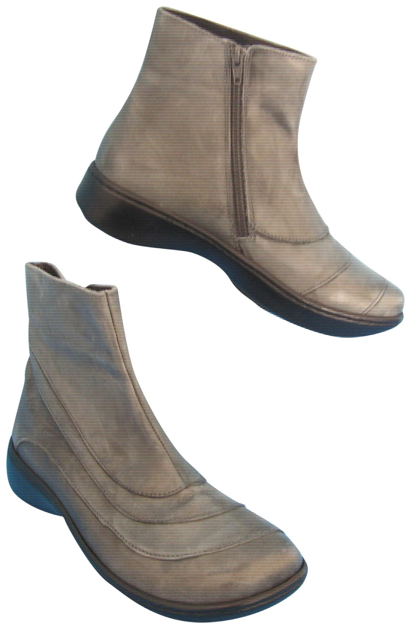 Naot Side Zip Leather Ankle Gray Boots