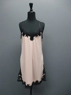 Natori Natori Pink And Black Womens Above Knee Night Gown Sm3797