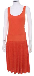 Natori Silk Pleated Tanktop Scoop Neck Dress