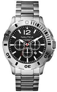 Nautica Nautica BDF 101 N19581G Men's Black Dial Chronograph Watch