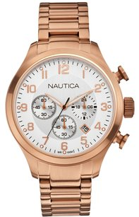 Nautica Nautica Men's N20117G BFD 101 Rose Gold-Tone Chronograph Watch