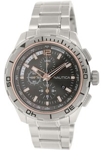 Nautica Nautica Men's Nst 101 N24550G Silver Stainless-Steel Quartz Watch