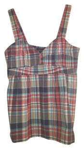 Nautica Top plaid red/blue /white/