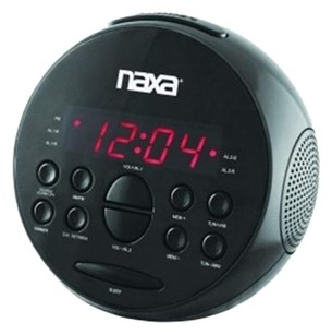 NAXA Naxa PLL Digital Alarm Clock with AM/FM Radio & Snooze Model: NRC-172