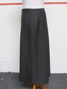 Neiman Marcus Dark Lined Side Zip Mid Calf Solid Flare 27336 Skirt Gray