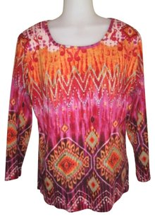 New Directions Top Multi-colored