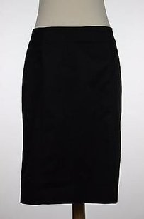 New York & Company Womens Solid Skirt Black