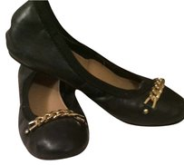 New York & Company Black and Gold Flats