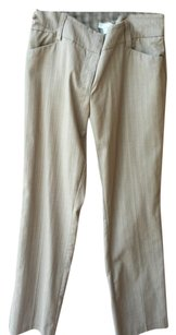 New York & Company Boot Cut Pants Light brown with a pin stripe
