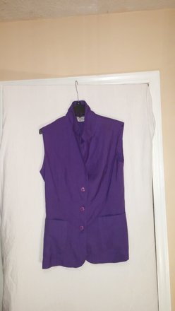 Purple Dressy Dress Vest Button Down Shirt 80% Off #12078667 - Button-Downs 80%OFF