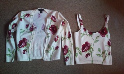 Nicole Miller Floral Valentino Knit Dior Burberry Chanel Marni Cotton Vince Blouse Sweater Cardigan
