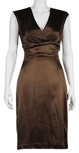 Nicole Miller Collection Womens Metallic Silk Blend Sheath Dress