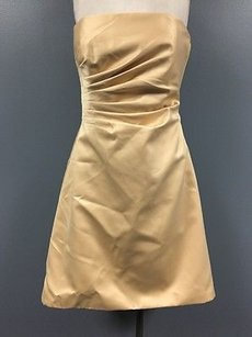 Night Way Collections short dress Orange Strapless Pleated High Low Hem Formal 1220a on Tradesy