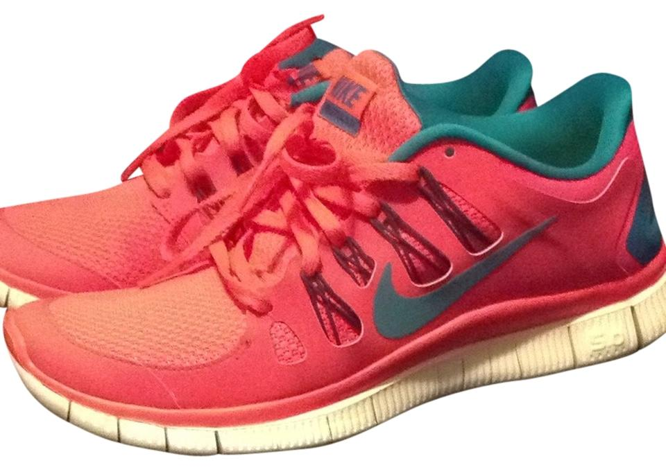 Nike US Atomic Red/ Teal Free 5.0+ #580591-630 Sneakers Size US Nike 8.5 Regular (M, B) d0280a