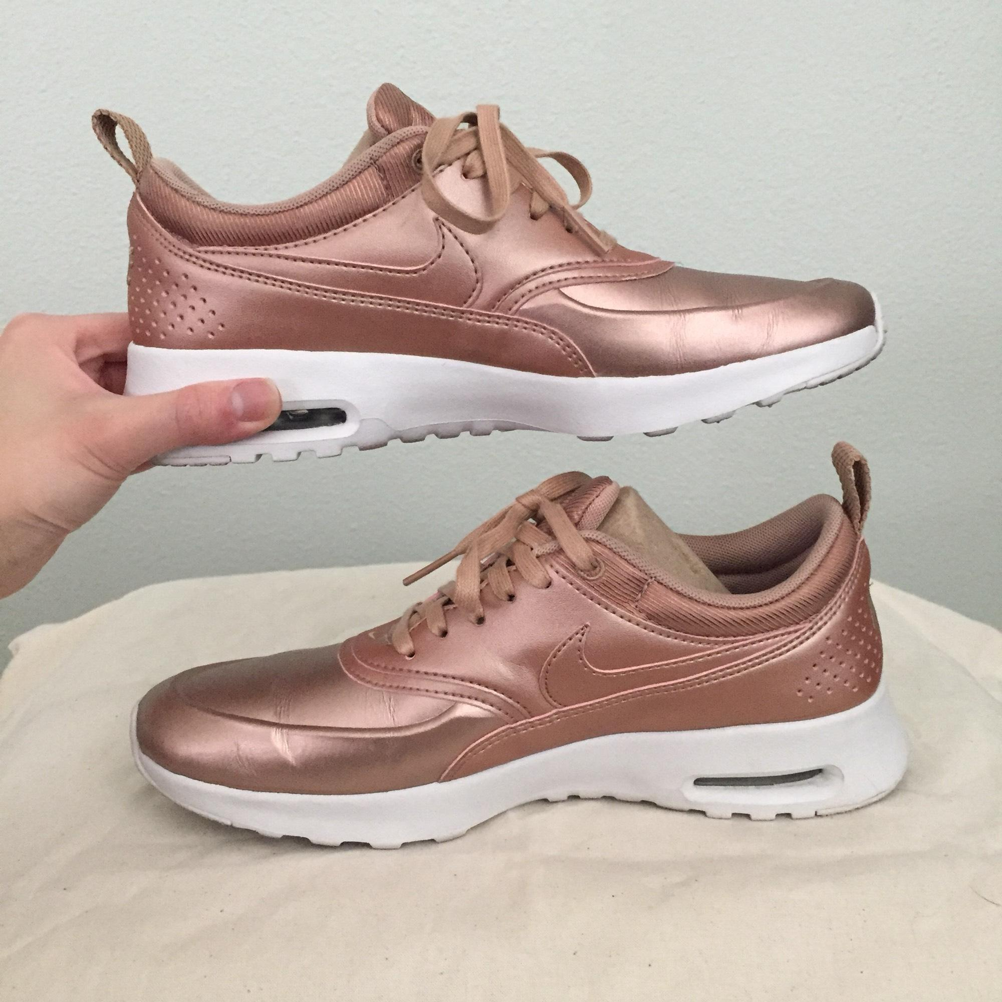 6a523095e89b2 ... good nike metallic rose gold air max thea womens sneakers size us 7  regular m b tradesy
