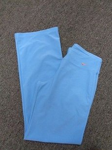 Nike Nike Dri Fit Light Blue Stretchy Wide Leg Polyester Athletic Pants Sma781