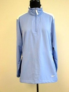 Nike Nike Golf Blue Purple Long Sleeve Half Zip Front Solid Pullover Jacket W498