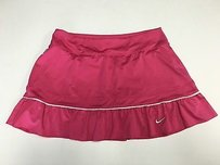 Nike Nike Womens Pink Stretch Ruffle Bottom Short Athletic Mini Skort Sma3488