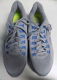 Nike Lace Up Fit Sole Sneakers Rubber B2432 Gray Blue And White Athletic