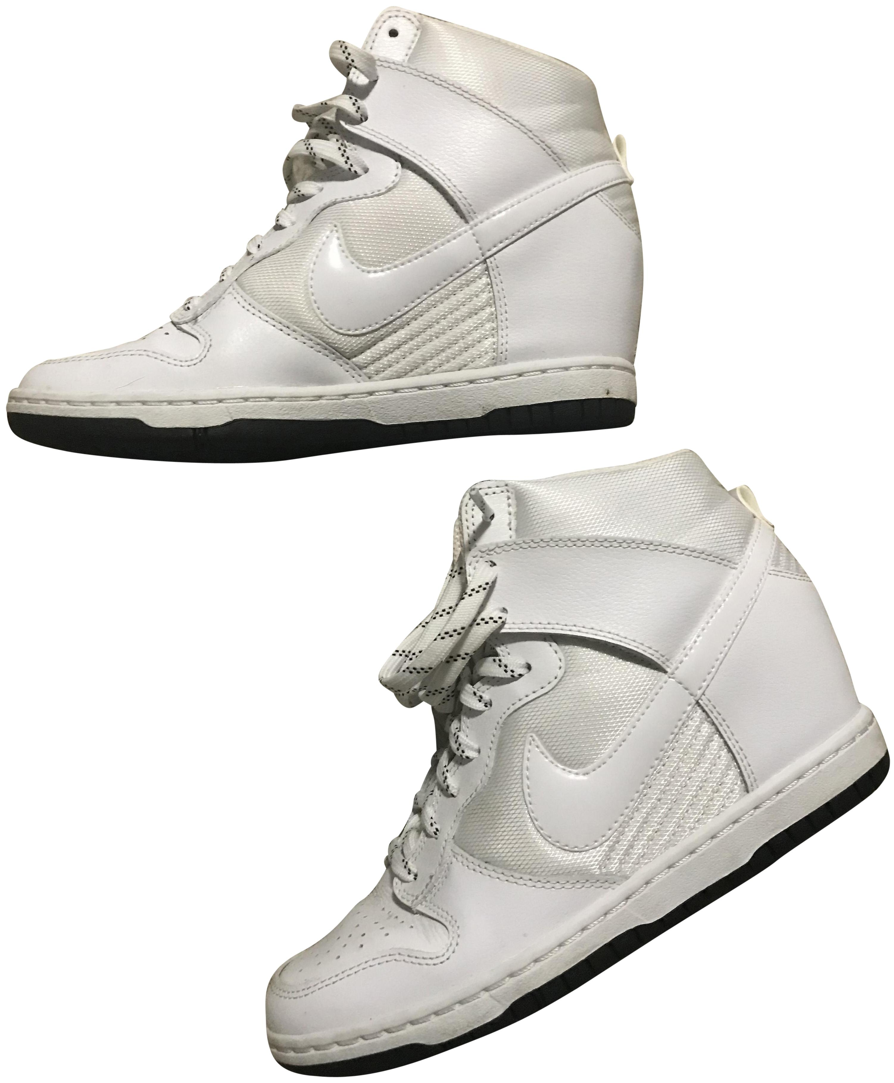 7b1214179e ... dunk sky hi womens sneaker wedge black sail suede 528899 002 size 8 us  canada nike white with black soles wedges f6e15 c1afe ...