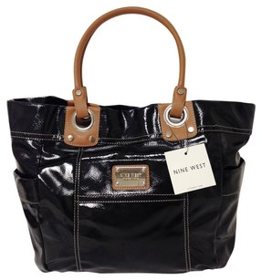 Nine West Faux Leather Tote in black