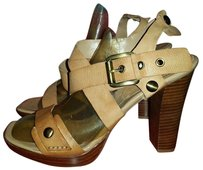 Nine West Leather Sandal Tan Sandals