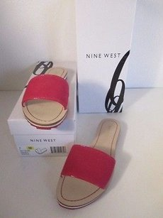 Nine West Sundance Leather pink natural Flats