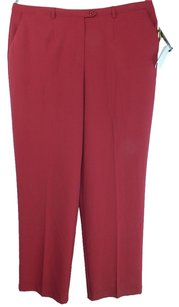 Ninety Plus Size Fashions Classic Fit Trouser Pants Cranberry Red