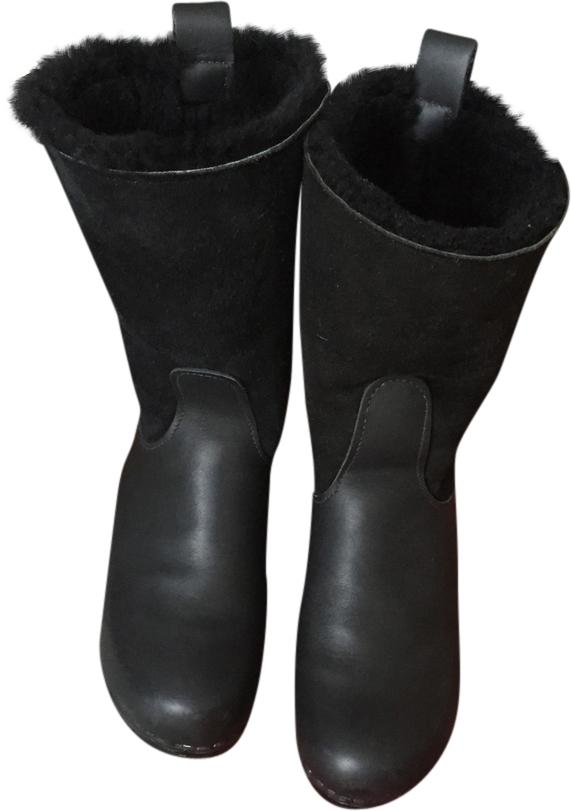 No. 6 clog wedge boots