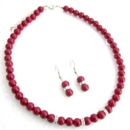 Red Ns1174 Young Girls Unimaginable Its Breathtaking Jewelry Set