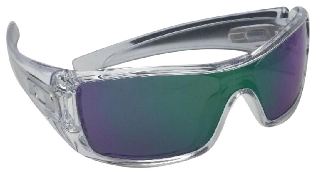 13b05beb9 ... free shipping oakley new oakley sunglasses batwolf oo9101 54 polished  clear w jade iridium c264a 978be