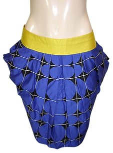Odille Anthropologie Fargyle Skirt Blue