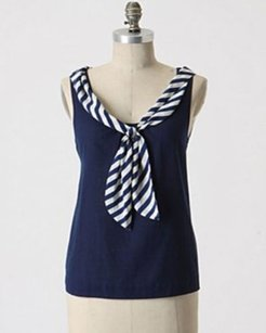 Odille Sailing Stripes Top navy